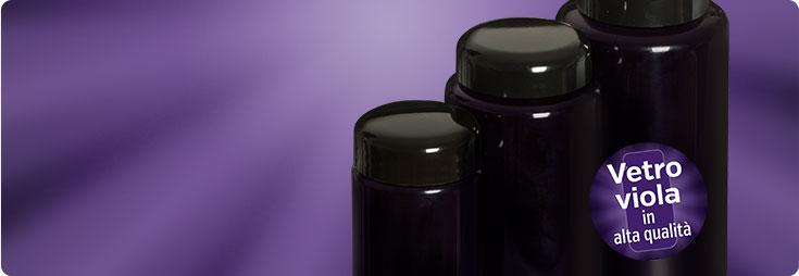 Prodotti in vetro viola